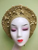 Hot Sale Aso oke headtie gele nigerian headtie african headtie auto gele women head wrap lady turban for wedding party