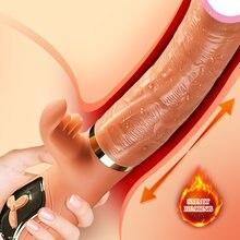 Ręczny wibrator Dildo wibrator dla kobiet Clit lizanie zabawki dla dorosłych Sex Machine stymulacja pochwy narzędzie damski Masturbator