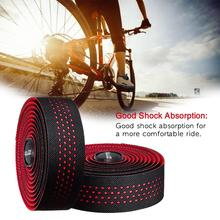 2pcs Bicycle Handlebar Tape Belt Cycling Strip With Waterproof Non-slip Breathable Silicone Mountaineer Road Bike PU Band