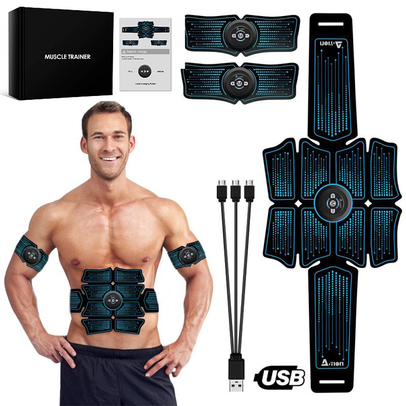 Electrostimulation Muscle Stimulator EMS Abdominal Vibrating Belt ABS Muscular Hip Trainer Massage Home Gym Fitness Equipment SD