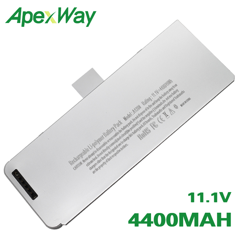ApexWay 49Wh Laptop Battery For Apple Macbook A1278 A1280  For MacBook 13