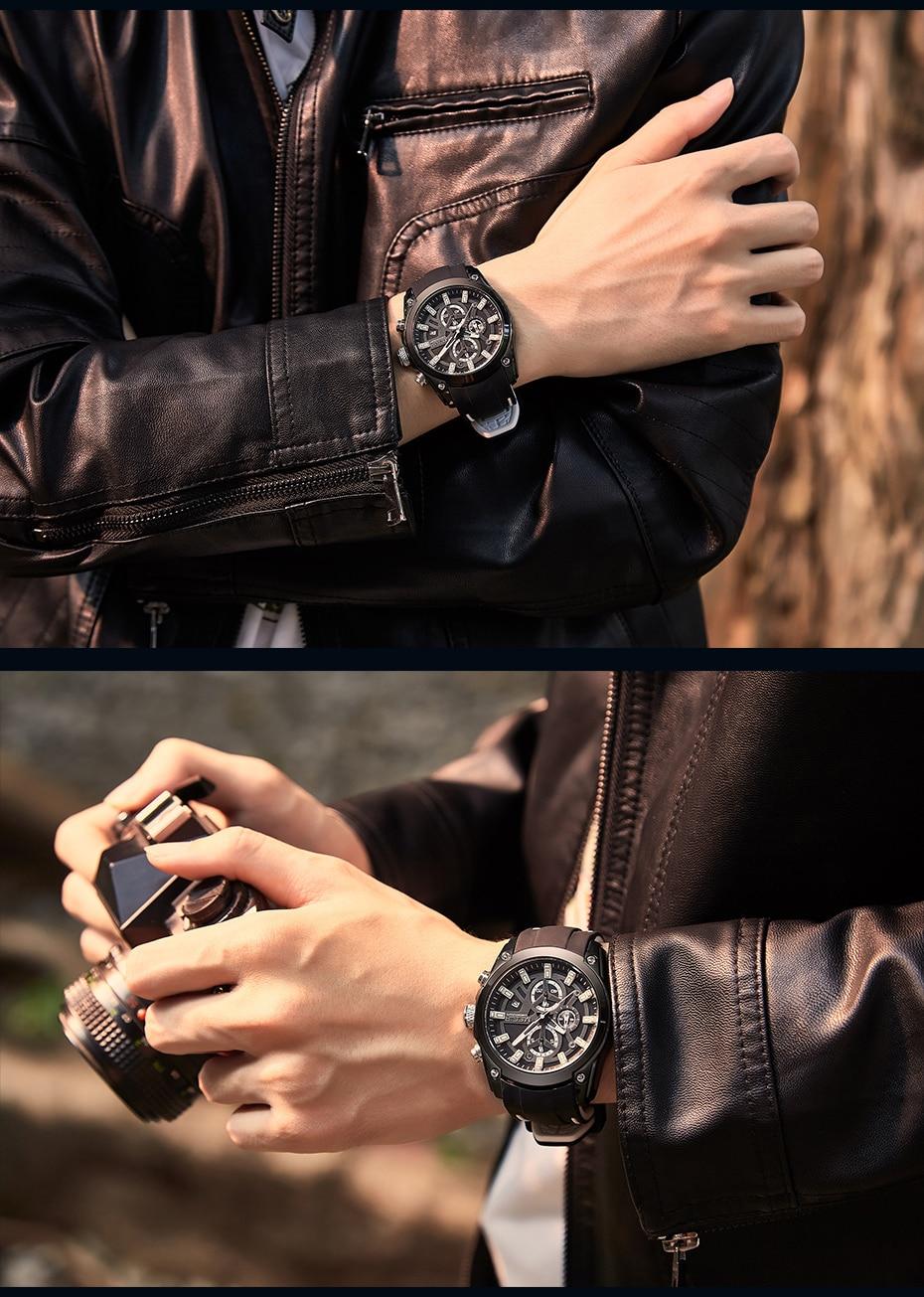H8b09c21c98c8412385e0433f21f1a478E MEGIR 2020 Blue Sport Watches for Men