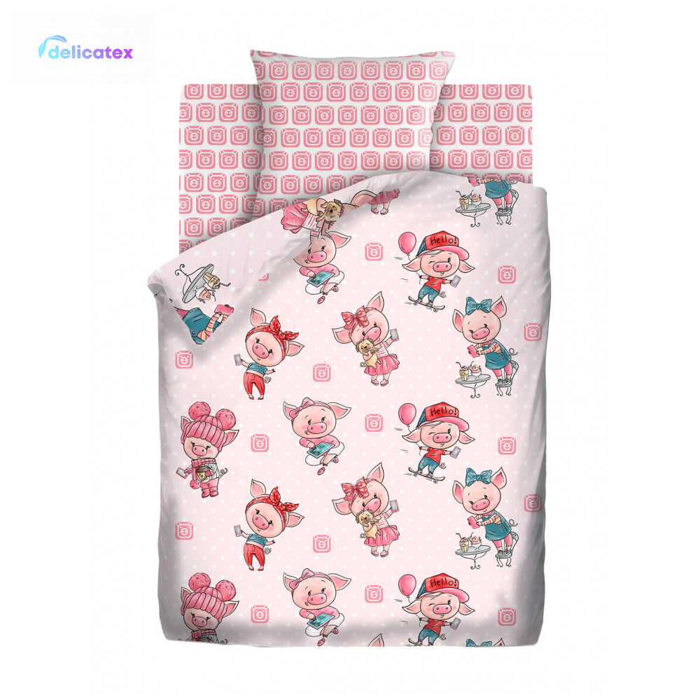 Bedding Sets Delicatex 13072-1+16054-1 Hryushki Home Textile Bed Sheets Linen Cushion Covers Duvet Cover Рillowcase Baby Bumpers Sets For Children Cotton
