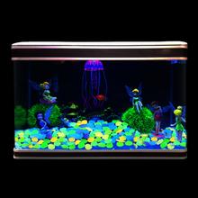 100 sztuk chodnik kamyki ogród fish tank świecące kolorowe kamyki ścieżka ogrodowa trawnik świecące kamyki mieszane kolor świecące kamyki tanie tanio YP79161 Żywica luminous stones Garden Decor Glowing Stones about 2 3cm
