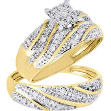 Milangirl – bague torsadée deux pièces pour hommes et femmes, bijoux de fiançailles