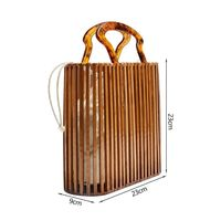 Straw Handle Bag Large Summer Hollow Out Handmade Bag Beach Tote Natural Woven Bag With Top Handles