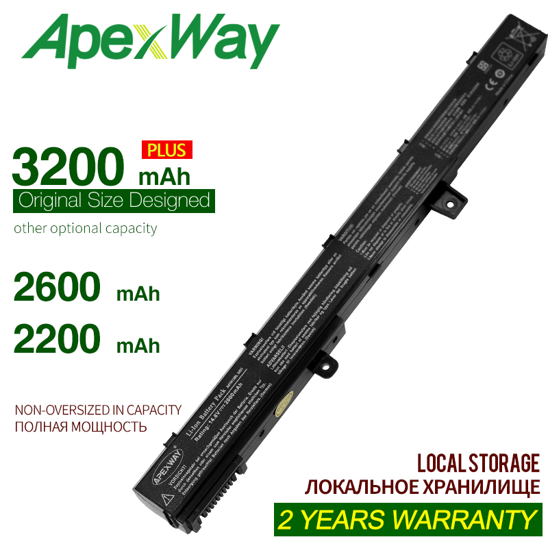 ApexWay  Laptop Battery A41N1308 A31N1319 0B110-00250100 X551M For Asus X451 X551 X451C X451CA X551C X551CA Series