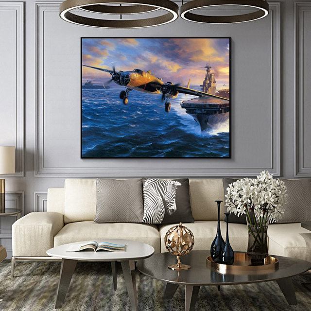 Painting By Numbers US Air Force B25 Mitchell Bomber WW2 Military