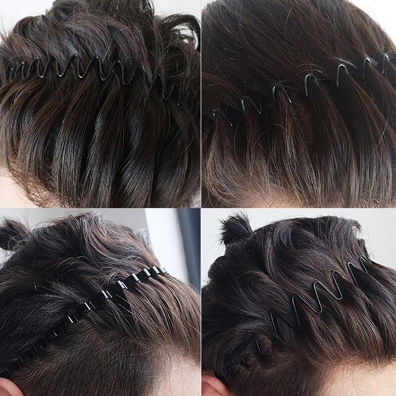 Черная металлическая лента для волос для мальчиков и девочек, стильная Праздничная спортивная лента для волос, новинка, мужская и женская п...