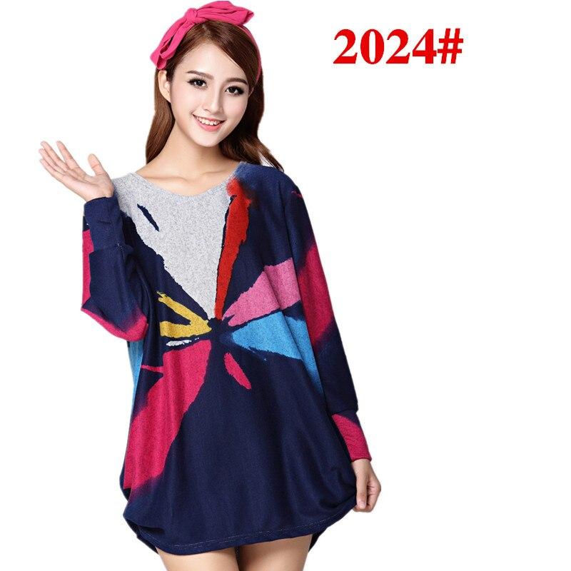 XL 5XL NEW 2018 winter autumn women casual print long sleeve t shirt tops tees plus
