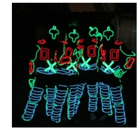 Stage Performance Party LED Tron Dance Costumes Clothing Costume Luminous Led EL Wire Dance Wear Fiber Optic Clothes