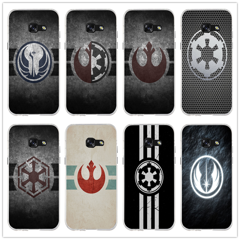 Hot Star War Rebel Logo Soft TPU Silicone Cell <font><b>Phone</b></font> <font><b>Cases</b></font> for <font><b>Samsung</b></font> <font><b>Galaxy</b></font> <font><b>A3</b></font> A5 A7 J1 J2 J3 J5 J7 2016 <font><b>2017</b></font> Coque Shell Bags image