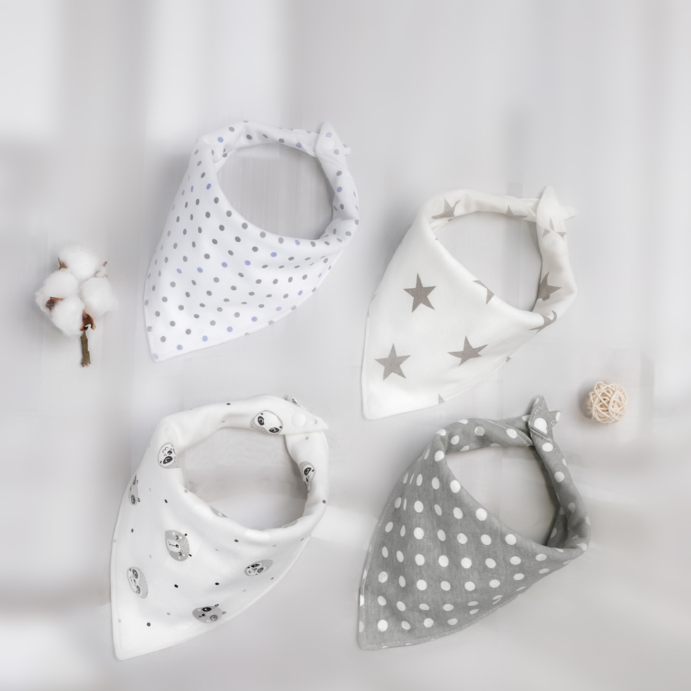 Baby Bib Soft Organic Cotton Baby Drool Cute Triangle Scarf Comfortable Drooling And Teething Towel Saliva Towel For Newborn