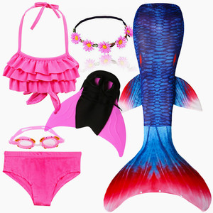 Image 3 - Kids Swimmable Mermaid Tail for Swimming Children Swimming Mermaid Tails With Monofin Fin Girls Kids Mermaid Cosplay Costume