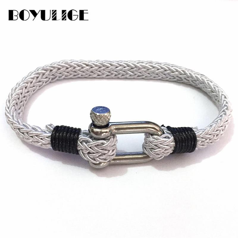 Trend Leather Bracelet Black Cool PU Metal Charm Geometric Men Wristband Hand-woven Bracelets For Women Genuine Cowhide Braided