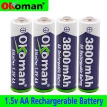 1~ 20pcs 1,5 V AA Аккумуляторная батарея аа ячейка 3800mah для игрушечный факел Часы MP3-плеер Замена батареи