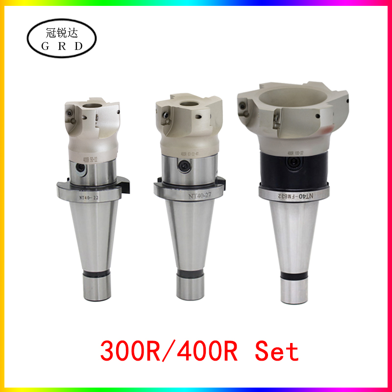 1set NT30 NT40 FMB22 FMB27 FMB32 FMB40 tool holder 300R 400R <font><b>50</b></font> 63 <font><b>80</b></font> mill cutter head APMT1135 APMT1604 insert NT tool holder image