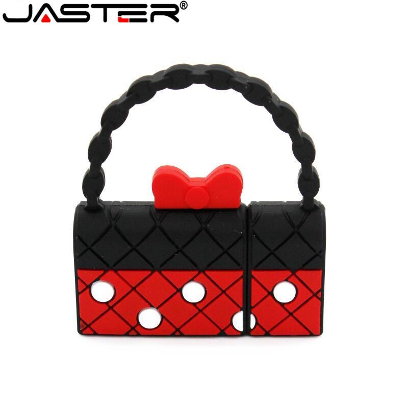 JASTER Mini Handbag Usb Flash Drive Purse Pendrive 4GB 8GB 16GB 32GB 64GB U Disk USB 2.0 Pen Drive Cute Bags Memory Stick Gifts
