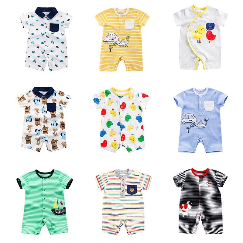 2021 мини-автомобиль, хлопок, комбинезон для детей с короткими рукавами одежда для малышей, комплект из одного предмета Мужская одежда для мал...