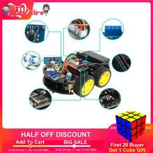 DIY Obstacle Avoidance Smart Programmable Robot Car Educational Learning Kit For Arduino Kits(China)