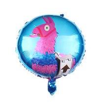 5 pçs 18 polegada jogo de folha de alpaca balões lhama hélio feliz aniversário decorações de festa jogo eles festa suprimentos globos crianças brinquedos