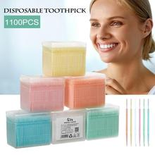 1100pcs/Box Dental Flosser Tooth brush ToothPicks Teeth Oral