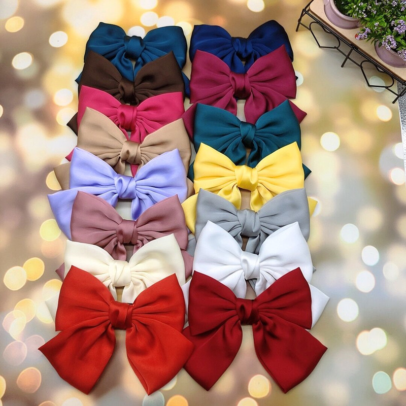 High Quality Soft Chiffon Hairgrips Hair Clip Big Barrettes Bow For Woman Girls Satin Trendy Hairpin 2020 New Hair Accessories