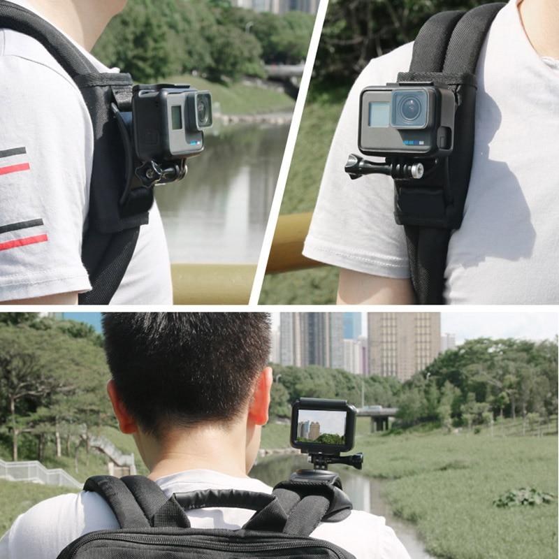 Riding Backpack Mount Bracket Holder For GoPro Hero 4 5 6 Sport Camera Outdoor THJ99
