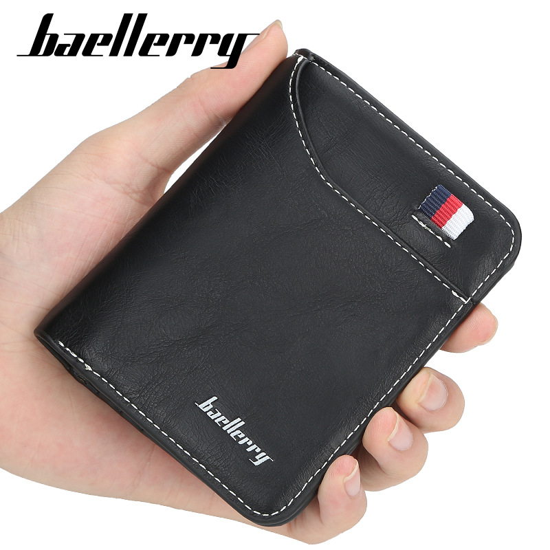 2019 Fashion Men Wallets Small High Quality Wallet Men Money Purse Zipper Short Male Wallet Card Holder Money Wallet