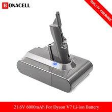 Bonacell 21.6v 6000用ダイソンV7バッテリーSV11、V7 motorheadプロ、v7 motorheadプロ掃除機の交換部品Z70