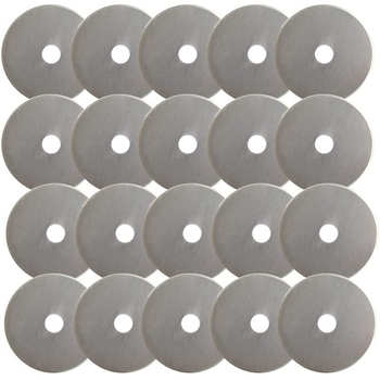 GTBL Rotary Cutter Blades 45mm 20Pack Compatible with Olfa Martelli for Dremel Rotary Cutter Replacement For Sewing image