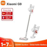 (code:FRSEP15 150€-15€) Xiaomi Mijia – aspirateur Portable sans fil G9, puissance d'aspiration 120aw, collecteur de poussière, batterie amovible