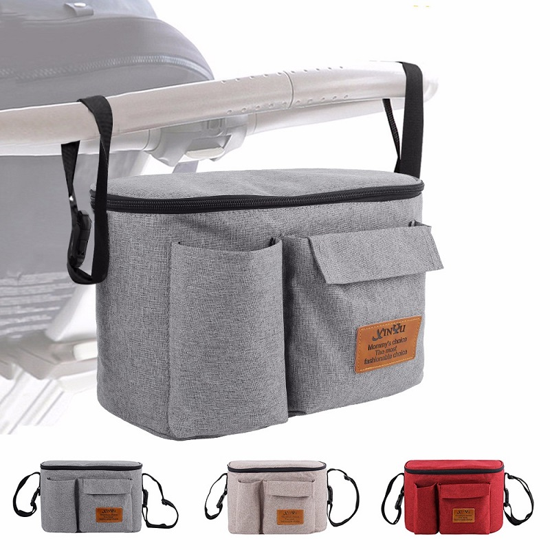 2 IN 1 Baby Diaper Nursing Bags For Strollers Waterproof Hanging Organizer Bags For Baby Nappy Mommy Travel Pram Buggy Bags