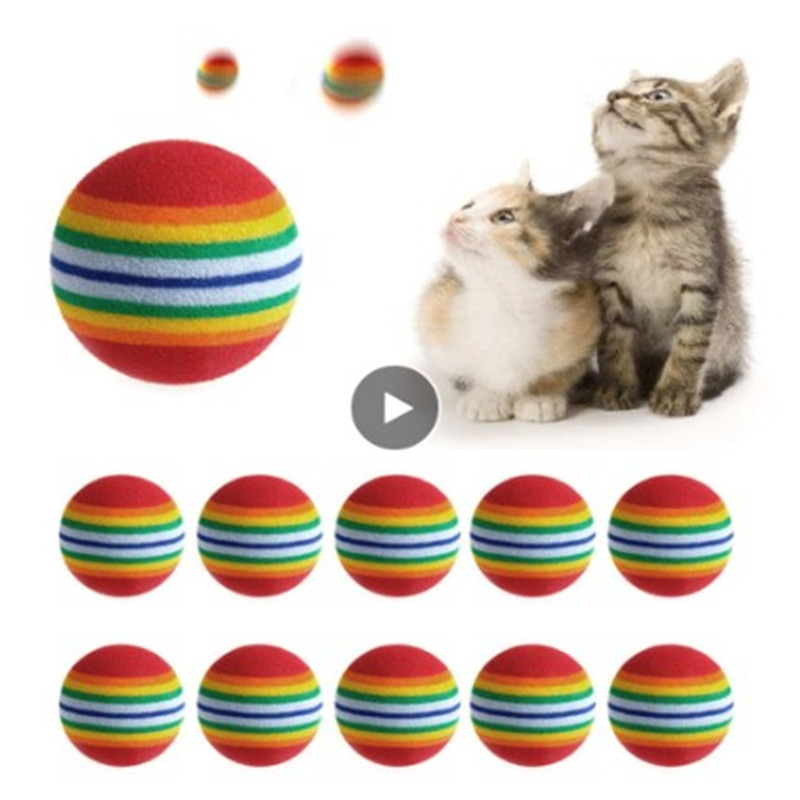Wholesale 5PC 42mm/35mm Cat Supplies Cat Ball Toys Puppy Cat Interactive Playing Chew Toy Rattle Scratch Ball Pet Cat Training