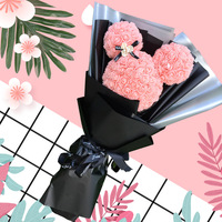 Creative Artificial Kawaii Rose Mickey Bouquet DIY Foam Mickey Model Decorative Home Valentine's Day Christmas Gift Foam Flower