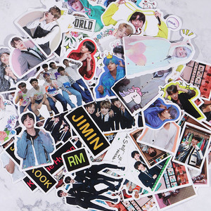 KPOP Bangtan Boys Stickers Diary Calendar Album Scrapbooking Flakes Stickers Handbook Decoration Stationery Supplies Fan Gifts(China)