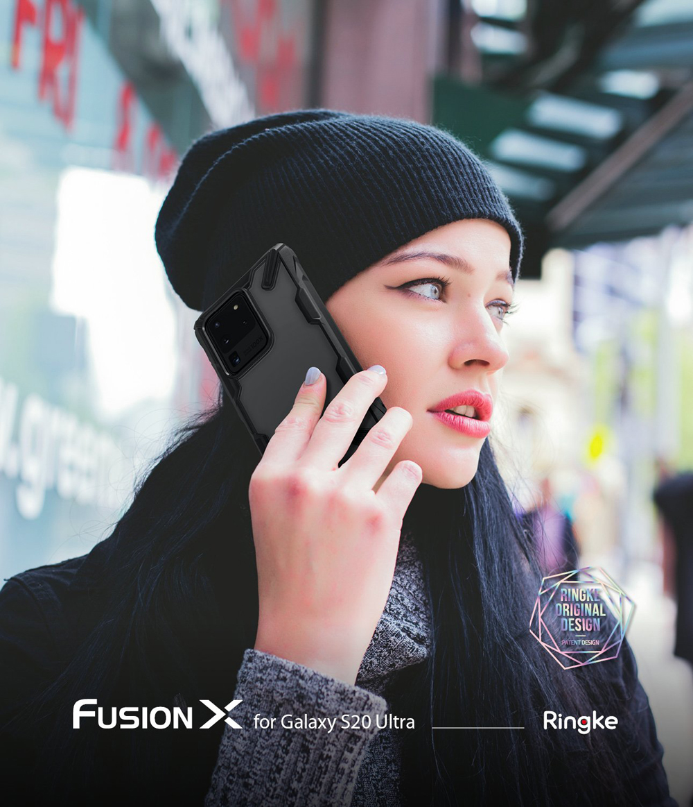 Ringke Fusion X Case Shockproof Clear for Galaxy S20 Ultra Cover