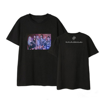 Nueva moda Kpop EVERGLOW DUN álbum camisas ropa informal estilo Hip Hop Harajuku k-pop ropa camiseta manga corta Camisetas