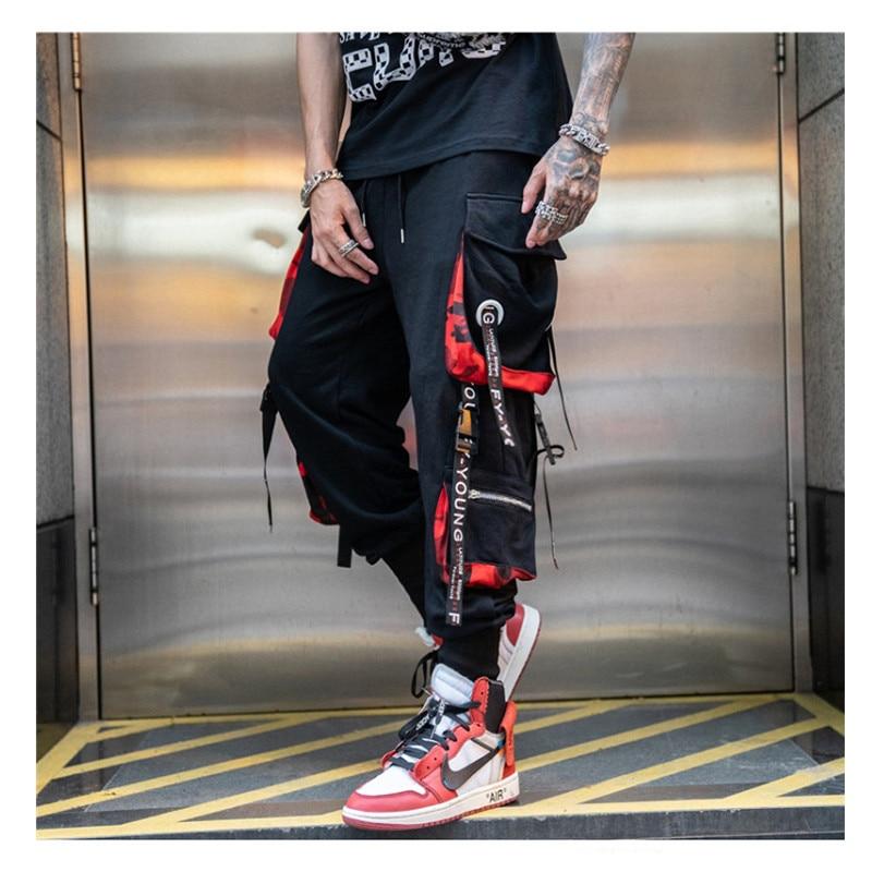 Men Black Joggers Pants Summer 2020 Mens Hip hop Big Pockets Cargo Pants Male Spring Streetwear Overalls Sweatpants Harem Pant