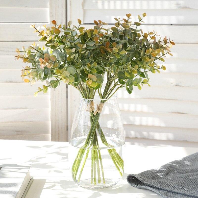 Eukalyptus Künstliche Pflanze Kunststoff Blatt Blume Anordnung Zubehör Foto Requisiten Bonsai Handwerkskunst Hochzeit Hause Dekoration
