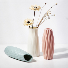 Flower Vases Bedroom-Decoration Small Nordic-Style Plastic for Unbreakable