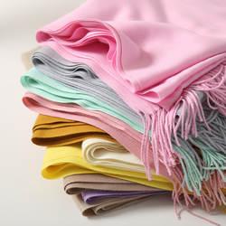 Мода 2018 новая весна зима шарфы для женщин платки и палантины леди пашмины Чистый длинный кашемировый платок Хиджабы палантины шарф шарфы