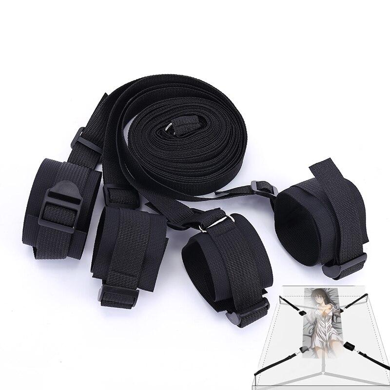 Нейлоновые секс наручники БДСМ бондаж эротический под кроватью БДСМ бондаж ремешок для ограничения БДСМ система ремешков для женских запя...