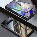 Передняя Стекло полный 360 чехол для samsung Galaxy S9 S8 Plus S Note 9 8 Note8 Note9 S9Plus Магнитный бампер samsung S9Plus чехол S8Plus
