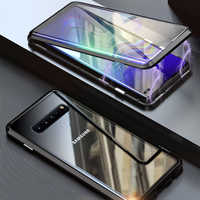 Front Glass Full 360 Case For Samsung Galaxy S9 S8 Plus S Note 9 8 Note8 Note9 S9Plus Magnetic Bumper Samsung S9Plus Case S8Plus