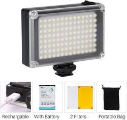 Ulanzi 96 DSLR LED الفيديو الضوئي على كاميرا صور استوديو الإضاءة الحذاء الساخن LED Vlog ملء ضوء مصباح للهواتف الذكية DSLR SLR كاميرا