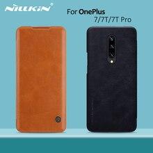Чехол для OnePlus 8, чехол книжка NILLKIN для OnePlus 7T Pro, винтажный Чехол бумажник Qin из искусственной кожи, задняя крышка из поликарбоната для OnePlus 7T OnePlus 7 Pro