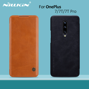 Image 1 - OnePlus 8 case OnePlus 7T Pro case NILLKIN Vintage Qin Flip Cover wallet PU leather PC back cover for OnePlus 7T OnePlus 7 Pro