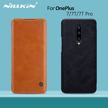 Oneplus 8 caso oneplus 7 t pro caso nillkin qin vintage flip capa carteira de couro do plutônio capa para oneplus 7 t oneplus 7 pro