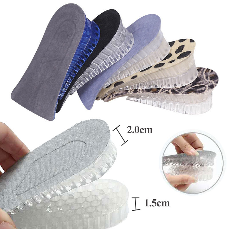 Height Increase Insoles For Men/women Gel Insole Silicone Half Pad Insoles For Feet Hard Wearing Shoes Invisiable Shoe Sole